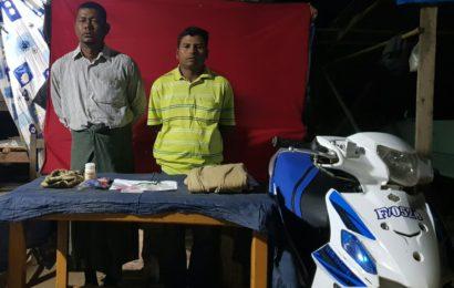 သာစည်မြို့နယ် ကျွဲတပ်ဆုံကျေးရွာ သံလမ်းကူး၌ စိတ်ကြွမူးယစ်ဆေးပြားများ ဖမ်းမိ