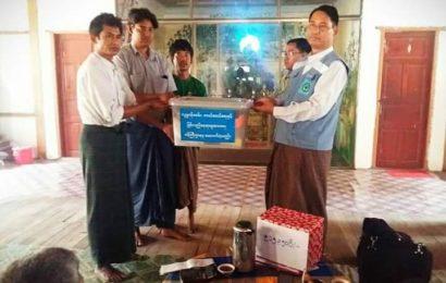 လေပြင်းဒဏ်ခံခဲရသော   ကြာကန်ကျေးရွာ အုပ်စုအား ကူညီထောက်ပံ့