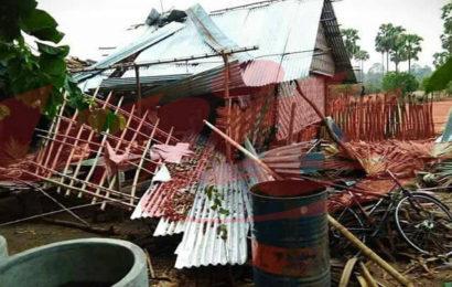 လေပြင်းတိုက်ခတ်မှုဒဏ်ခံ ကြာကန်ကျေးရွာအုပ်စုအား လူကယ်ပြန်မှ ထောက်ပံ့