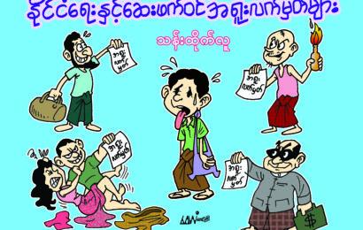 နိုင်ငံရေးနှင့် ဆေးဖက်ဝင်အရူးလက်မှတ်များ
