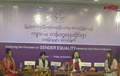 နိုင်ငံရေးကဏ္ဍတွေမှာ အမျိုးသမီး ၃၀% ပါဝင်ဖို့တောင်းဆို